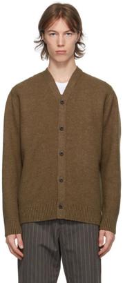 Junya Watanabe Brown Wool Cardigan