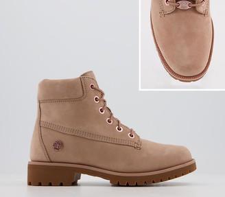 Timberland Slim Premium 6 Inch Boots Tawny Rose Gold Chain
