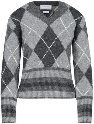Thom Browne Argyle Pattern Knitted Jumper