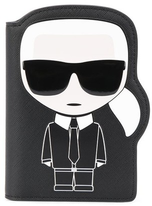 Karl Lagerfeld Paris K/Ikonik passport holder