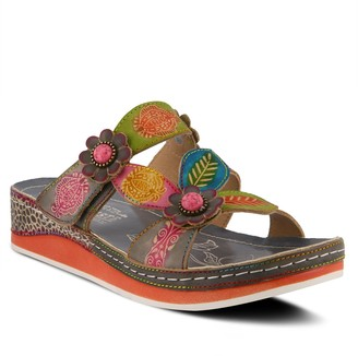 Spring Step Lartiste By Womens L'Artiste By Pillow Leather Slide Sandals