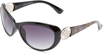 Rocawear Women's R3027 ANGLD Oval Sunglasses