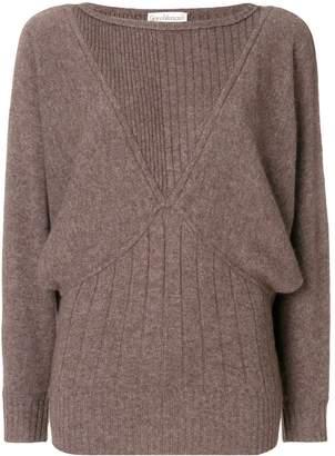 Versace Pre-Owned batwing sleeves ribbed jumper