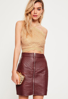 Missguided Gold Metallic Corded Lace Crop Top
