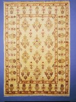 Couristan 3320/0017 Chobi Kerman/Cream 5-Feet 6-Inch by 8-Feet Rug