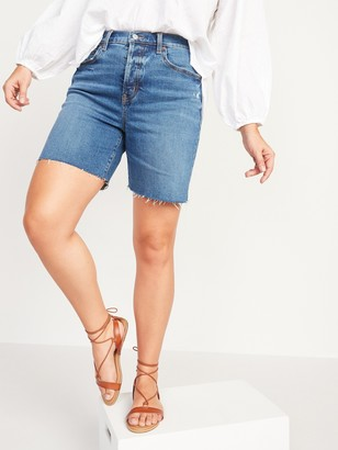 Old Navy Extra High-Waisted Sky Hi Button-Fly Cut-Off Jean Shorts for Women -- 7-inch inseam