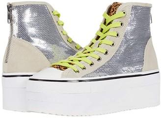 Steve Madden Stories Platform Sneaker (Silver) Women's Shoes