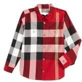Burberry Boy's 'Mini Camber' Check Long Sleeve Shirt