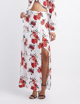 Charlotte Russe Floral Maxi Wrap Skirt