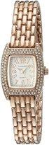 Vernier Women's VNR720 Feminine Rose-Tone Tonneau Quartz Bracelet Watch