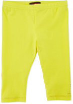 Catimini Stretch-Jersey Leggings, Lemon, Size 6M-3