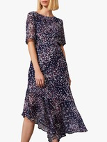 Phase Eight Klara Tie Waist Dress, Navy