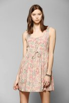 Babydoll Band Of Gypsies Lace-Up Tank Dress