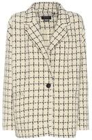 Isabel Marant Mark wool-blend printed knitted blazer