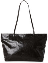 Latico Leathers Espresso Carmen Scalloped East/West Tote