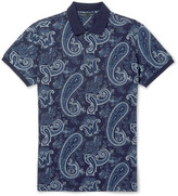 Etro - Slim-fit Paisley-print Cotton-piqué Polo Shirt