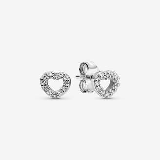 Pandora Open Heart Stud Earrings