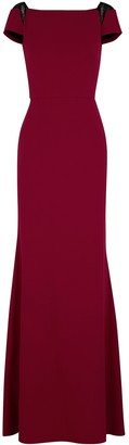 Roland Mouret Hepworth red lace-trimmed gown
