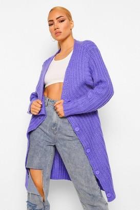boohoo Soft Knit Chunky Cardigan