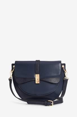 Next Womens Navy Vintage Style Across Body Saddle Bag - Blue