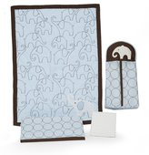 Kids Line Carter's 4-Piece Crib Bedding Set, Blue Elephant