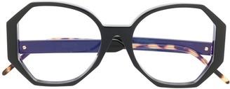 So.Ya Virginia geometric-frame glasses