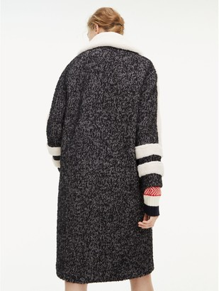 Tommy Hilfiger Herringbone Teddy Coat