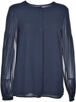 MICHAEL Michael Kors Pleated Sleeves Blouse