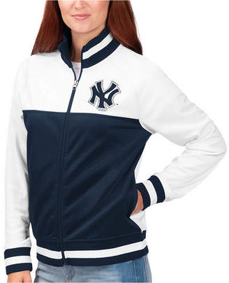 New York Yankees G-iii Sports Women Face Off Track Jacket
