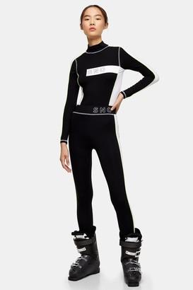 Topshop Womens **Black Jersey Ski Leggings By Sno - Black