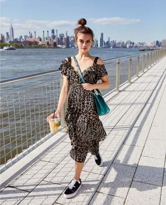 The Kooples Long frilly formal lurex dress