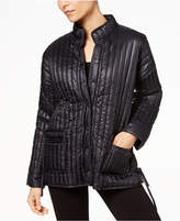Eileen Fisher Recycled Nylon Stand-Collar Quilted Coat