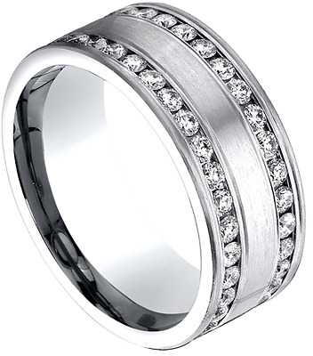 Benchmark Diamond Two Row Channel Set Eternity Band