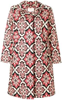 La DoubleJ Nylon Loden Palazzo coat