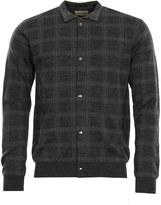 Oliver Spencer Knitwear Malden Knitted Jacket OSK628 Charcoal