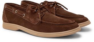 Brunello Cucinelli Suede Boat Shoes - Men - Brown