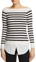 Aqua Boat Neck Layered-Look Sweater - 100% Exclusive