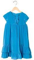Little Marc Jacobs Girls' Ruffle-Trimmed Silk Dress