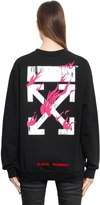 Off-White Off White Fire Oversized Cotton Jersey Sweatshirt