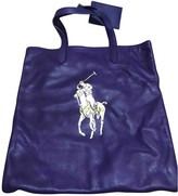 Ralph Lauren Purple Leather Handbags