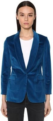 Cotton Blend Velvet Jacket