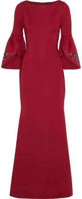 Badgley Mischka Embellished Neoprene Gown