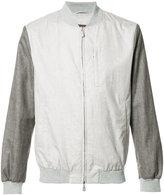 Eleventy contrast bomber jacket - men - Silk/Linen/Flax/Wool/Bemberg - S