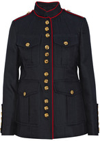 Burberry Cotton And Silk-blend Gabardine Jacket - Navy