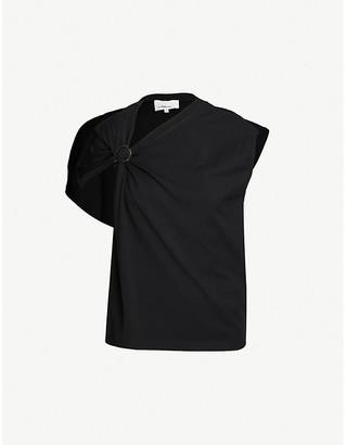 3.1 Phillip Lim Asymmetric-neckline cotton-jersey T-shirt