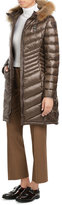 Blauer Quilted Down Coat with Fur Trim