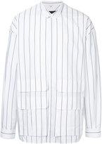 Juun.J striped oversized shirt