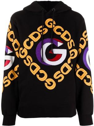 GCDS Logo Print Cotton Hoodie