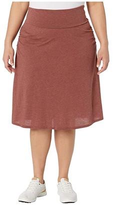 Prana Plus Size Valencie Skirt (Vino) Women's Skirt