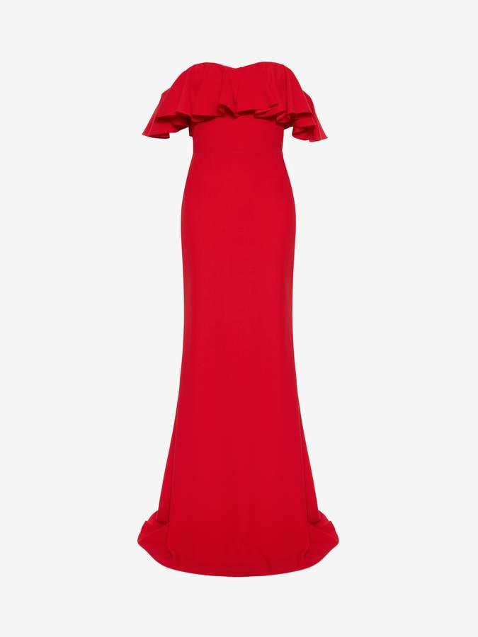 Alexander McQueen Off-the-Shoulder Evening Dress